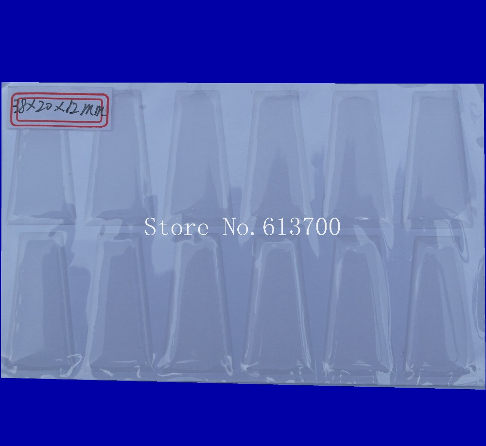 New Arrival 38 20 12mm Trapezoid Shape Clear Epoxy Sticker For DIY Making Resin Epoxy Stickers