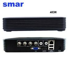 Grabador de vídeo híbrido para seguridad del hogar, Mini 4 canales, 8 canales, 1080N, AHD, DVR 5 en 1, HVR, Onvif, XMEYE, Cloud, P2P, NVR, 1080P, sistema DVR CCTV