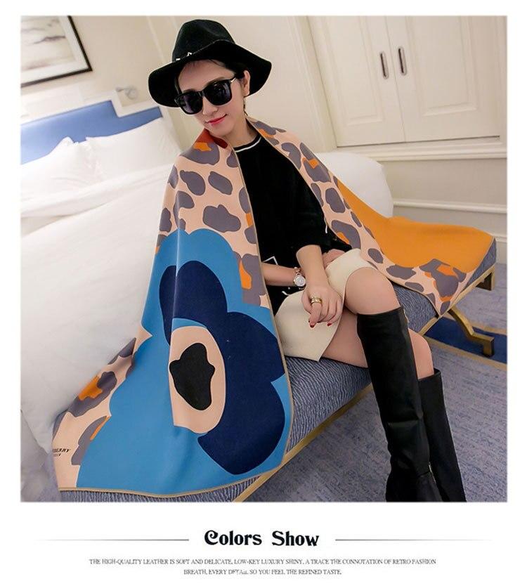 2016 Ladies Imitated Cashmere <font><b>Scarf</b></font> Oversized Winter Shawls and <font><b>Scarves</b></font> for Women Fashion leopard dot Pashmina Blanket <font><b>Scarf</b></font>