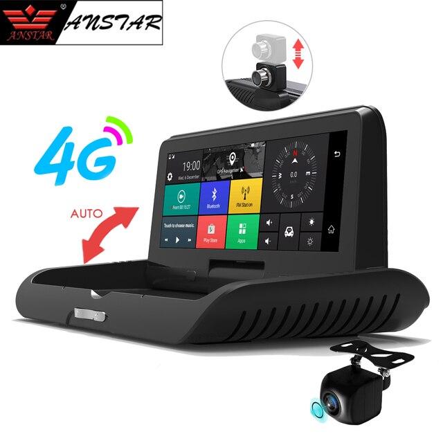 ANSTAR 4G 8'' Car DVR HD 1080P Dash Cam Android WiFi GPS Navigator ADAS Dual Lens Registrar Video Recorder Rearview Auto Camera