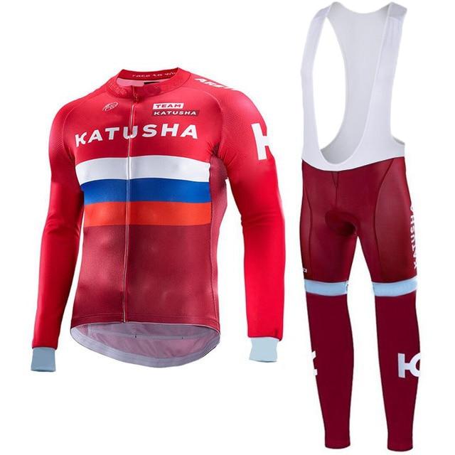Pro Team hombres rojo colorido raya respirable cómodo manga larga equipo  Ciclismo Jersey Sets ropa ropa ciclismo en Conjuntos de ciclismo de Deportes  y ocio ... c5f229549d7f9