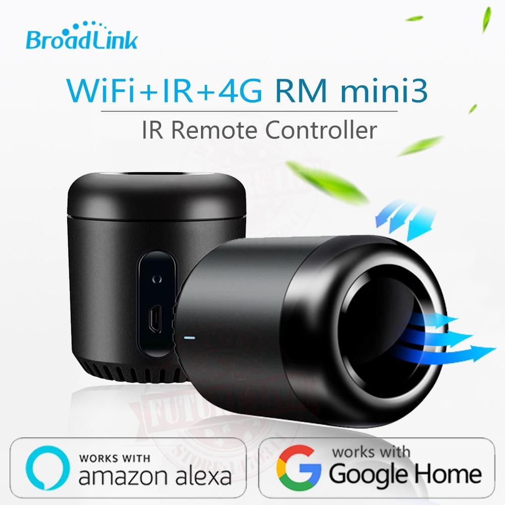 2019 Newest Broadlink RM Mini3 Black Bean Smart Home Universal Intelligent WiFi/IR/4G Wireless Remote Controller By Smart Phone