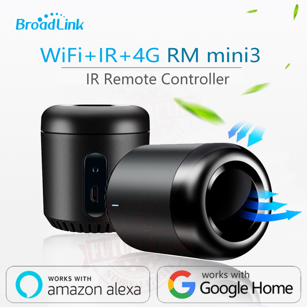 Broadlink Terbaru RM Mini3 Black Bean Smart Home Universal Cerdas WiFi / IR / 4G Wireless Remote Controller Dengan Ponsel Pintar