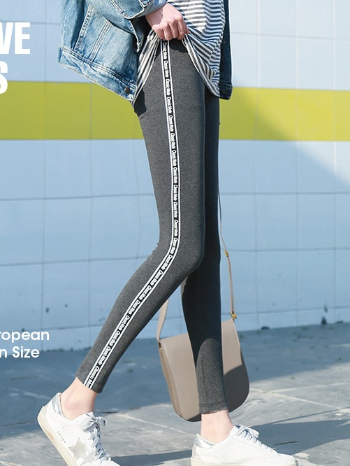2019 New Fashion Women's Spring And Summer High Elasticity And Good Quality Slim Fitness Capris   Leggings   Cotton Pants