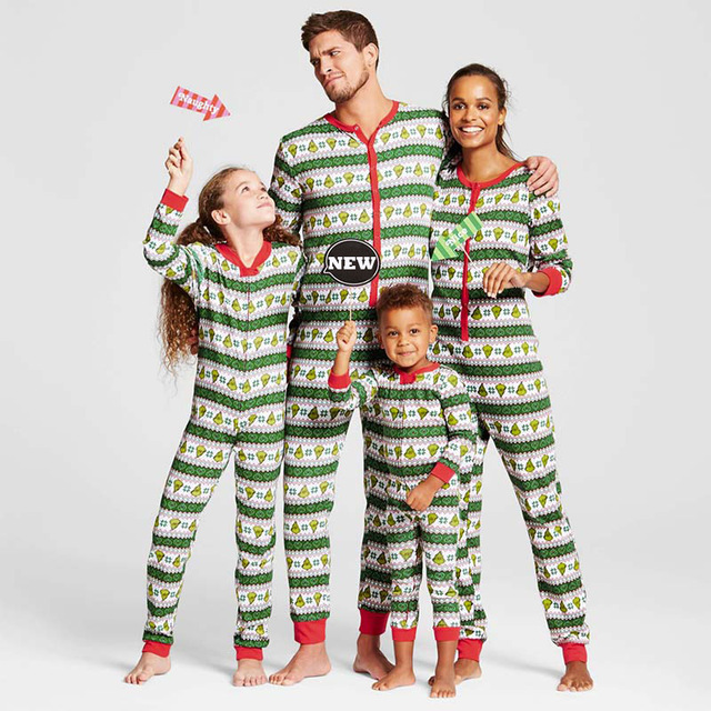new 2017 christmas striped family matching christmas pajamas set women kid adult pjs sleepwear nightwear - Christmas Pajamas Women