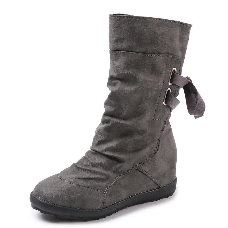 Algodón Botas Nuevas Nieve Tamaño Invierno marrón Tubo Negro Matorrales 2018 Las Mujer El En gris Zapatos Mujeres De Feerijt Gran Fw6qzXxy