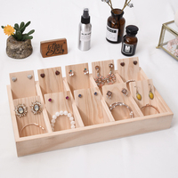Solid Wood Jewellery Display Tray Earrings, Bracelets, Pendant Display Tray