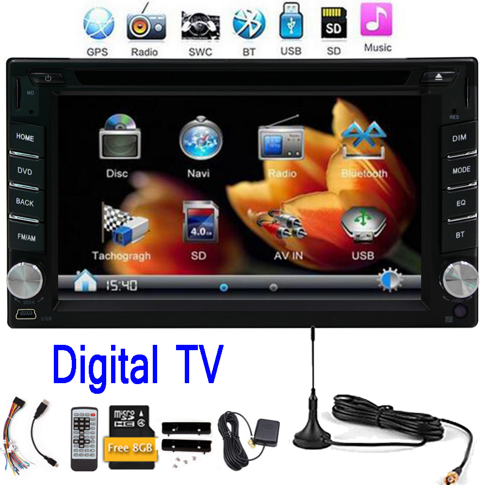 Free Digital TV double 2din Car gps Radio dvd player Video