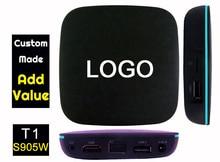 10pcs T1 905W Custom Made Amlogic S905W Quad core Smart Android7.1 LIVE TV Streaming Box 1GB DDR 8GB ROM 1200+ live tv 1000+ VOD