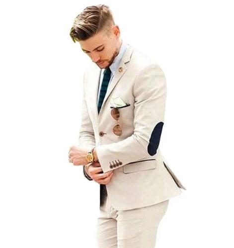Mens Suits Groom Tuxedos Groomsmen One Button Wedding Party Men Latest Coat Pant Designs Suits (Jacket+Pants) Costume Homme