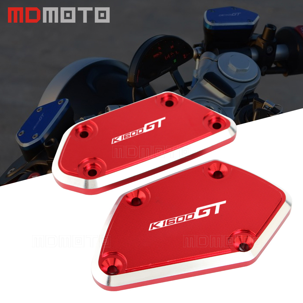 K1600 GT 16 17 Motorcycle CNC Aluminum Front Brake Clutch Reservoir Fluid Tank Cap Cover For
