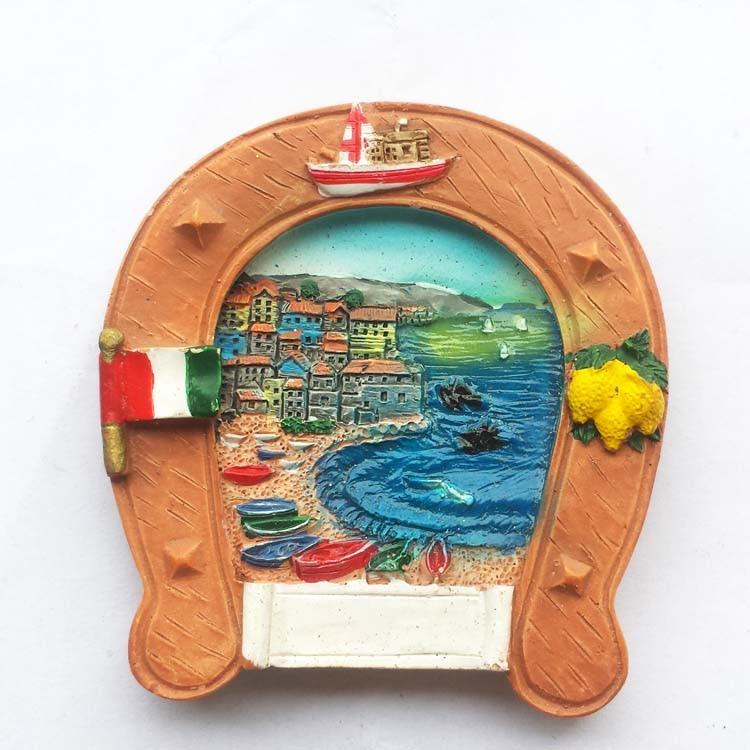 Italy horse shoe shaped stereo relief Tourism Souvenir Fridge Magnets