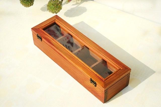 Retro Wooden Desktop Storage Box and Organizer