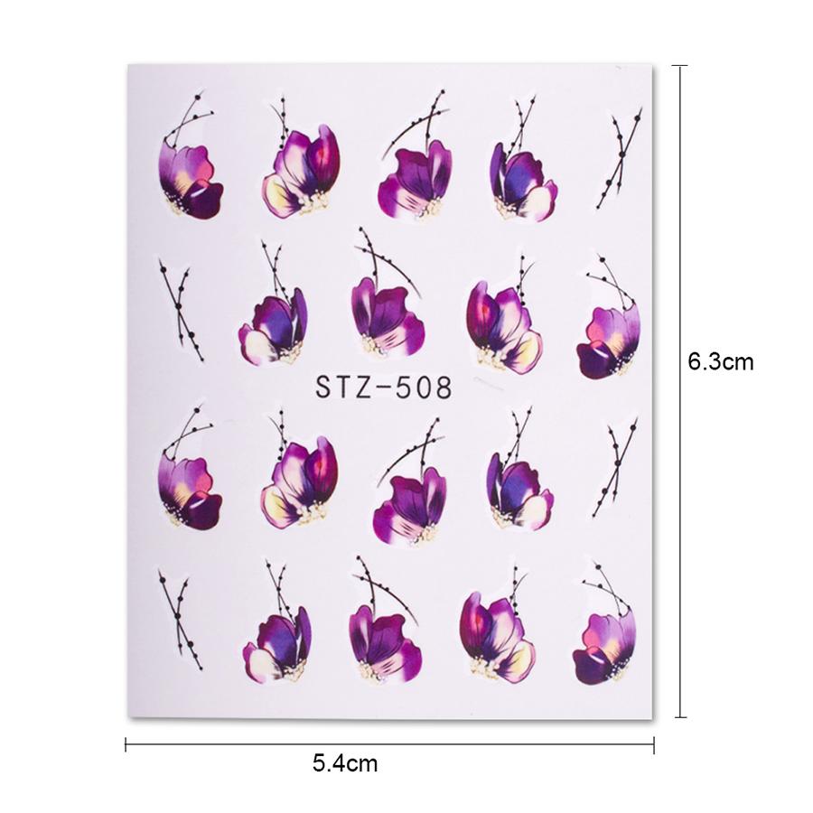 58 шт./компл. смешанные красочные стикеры ногтя фруктовые/торт/цветок переноса воды обертывания ногтей советы декор маникюр инструмент chstz455-512