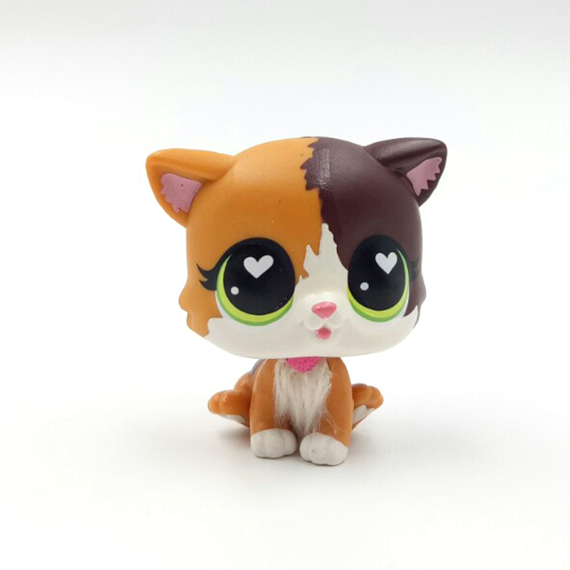Rare Pet Shop Lps Toys Standing Felina Meow 339B Littlest Short Hair Cat With White Heart Green Eyes Christmas Gift Toys