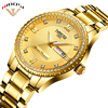 Relogio Masculino 2018 Gold Watches Men Luxury Brand Wristwatches Fashionable Crystal Men Watches Stainless Date And