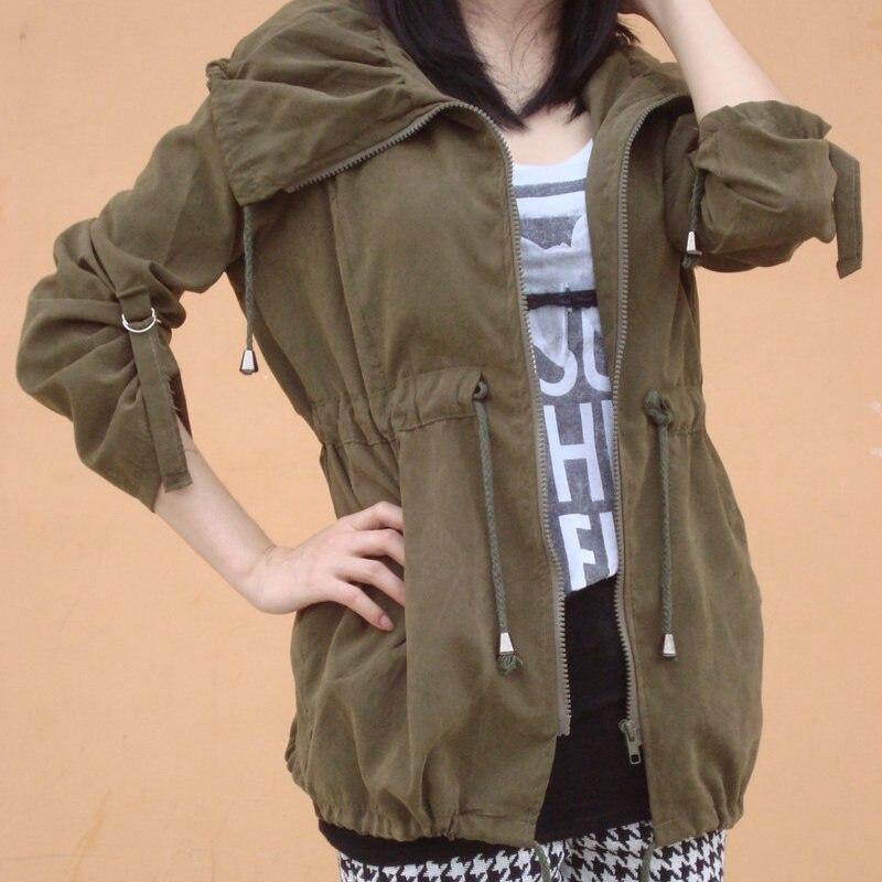 2019 Autumn New Korean Show Thin Windbreaker Women Jacket Large Size Slim Women's Coat Army Green Casual Coats Fashion Jackets