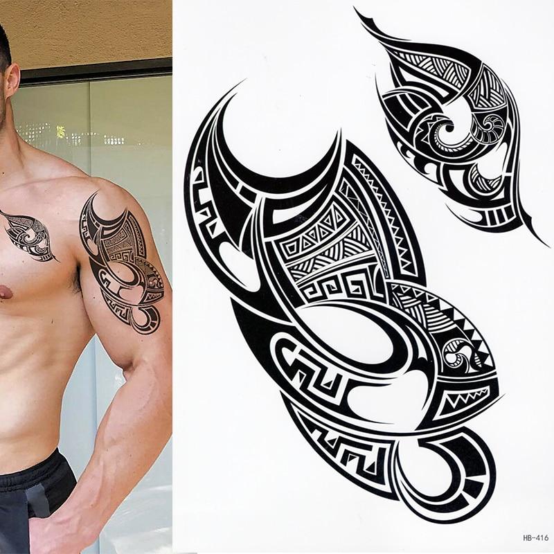 Us 114 5 Offpolynesian Temporary Tattoo Set Of 1 Tribal Maori Mens Womens Sticker In Temporary Tattoos From Beauty Health On Aliexpress