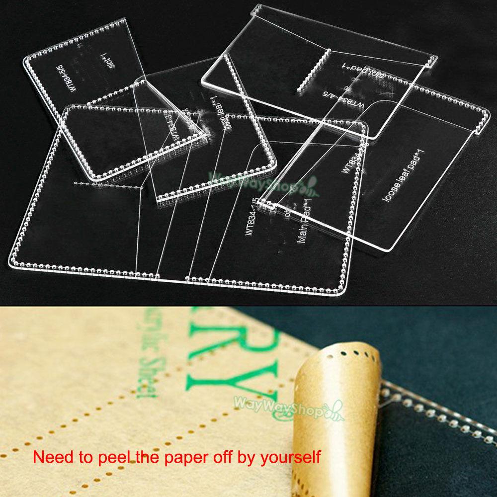 Passport 834 Vorlagen karte Clear Acryl Leder Muster Handwerk DIY ...