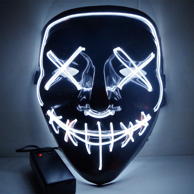 Viral Halloween Led Mask - White