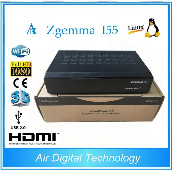 10pcs Latest 2017 Powerful New Zgemma i55 IPTV Box HDTV Linux Enigma 2 TV Box without account 1746 io8 brand new without the box