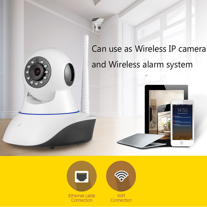 Wireless WiFi IR Cut IP Camera HD 1MP CMOS Security CCTV IP Camera Alarm PT,For wifi Camera Video Surveillance все цены