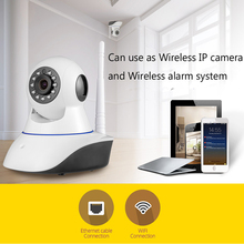 Wireless WiFi IR Cut IP Camera HD 1MP CMOS Security CCTV IP Camera Alarm PT,32G SD card. For wifi and GSM sms alarm system wireless outdoor wifi ir cut ip camera 1080p full hd 2mp cmos security cctv ip camera alarm pt for wifi and gsm sms alarm system
