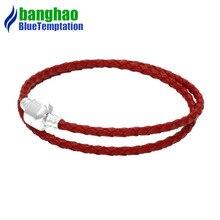 bracelet charms silver joyas de plata 925 original perles pour la fabrication bijoux jewelry red bracelets for women