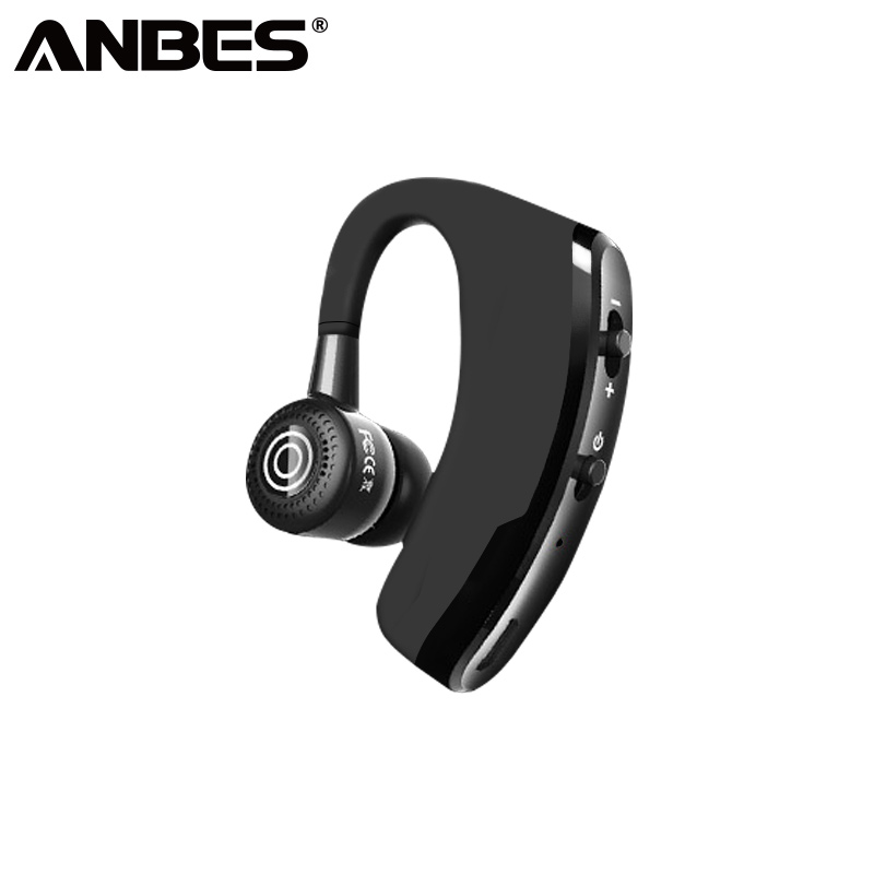ANBES V9 Business Bluetooth Headphone With Mic Voice Control Wireless Bluetooth Handsfree Headset For Drive Noise Cancelling