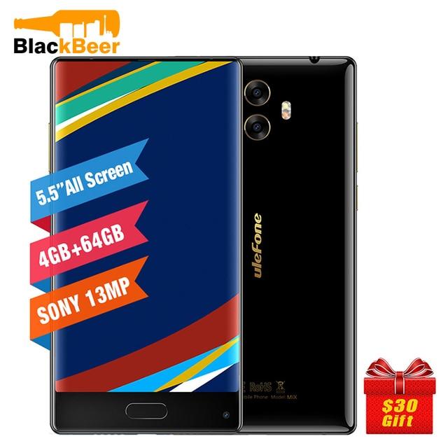 Ulefone Mix 4G Mobile Phone 5.5 inch HD MTK6750T Octa Core 4GB RAM 64GB ROM Android 7.0 Fingerprint 13MP Dual Rear Camera Volte