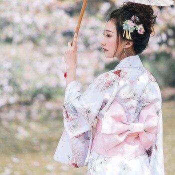 Vintage Mujer Kimono Estilo Japonés Elegante Vestido De