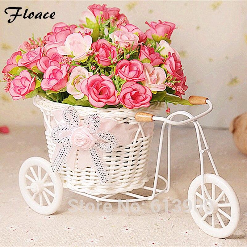 Floace цветы + ваза Небольшие поплавки выросли искусственные цветы цветок украшения Предметы интерьера