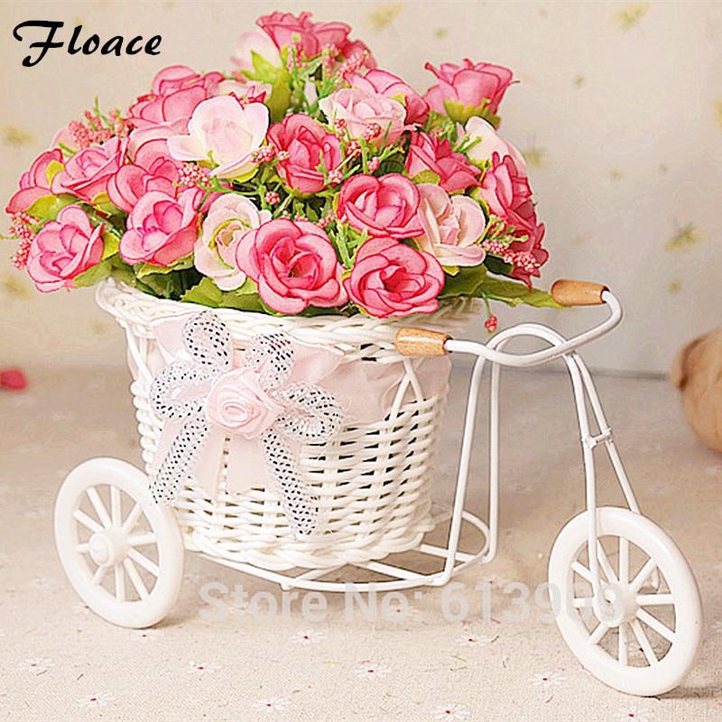 Floace פרחים + אגרטל קטן צף עלה פרחים - חגים ומסיבות