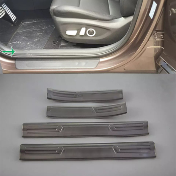Car Accessories Interior Stainless Steel Inner Door Sill Scuff Threshold Plate Cover Trim For Hyundai Tucson 2015 Car-styling