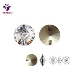 Кристально прозрачные стразы Швейные Кнопки 16 мм, 18 мм, 27 мм круглые бусины для одежды Шинель ремесло DIY