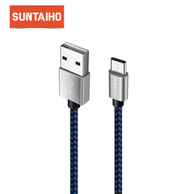 USB Type C 3.1 Cable,Suntaiho Nylon Bradied USB Type-C Cable For Xiaomi Mi6 Mi5 redmi 4 Oneplus 5 3t Nexus 5 5X 6P Samsung S8