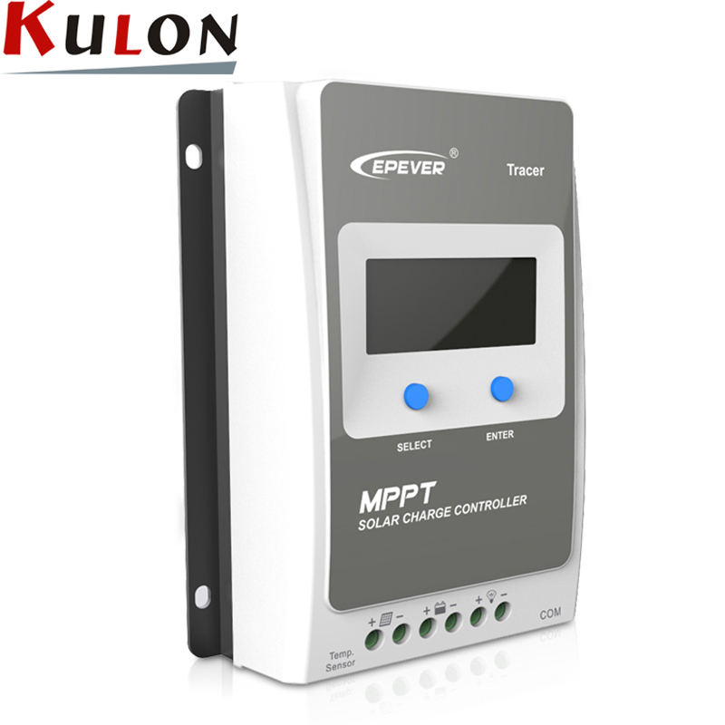 EPever 40A MPPT Solar Charge Controller Tracer4210AN 40A 12V 24V auto work 100VDC input