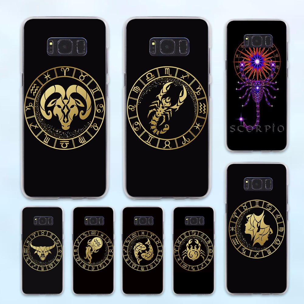 Zodiac Signs design hard transparent Case for Samsung Galaxy S8 S6 S7 edge S8 Plus s5 note 5 4