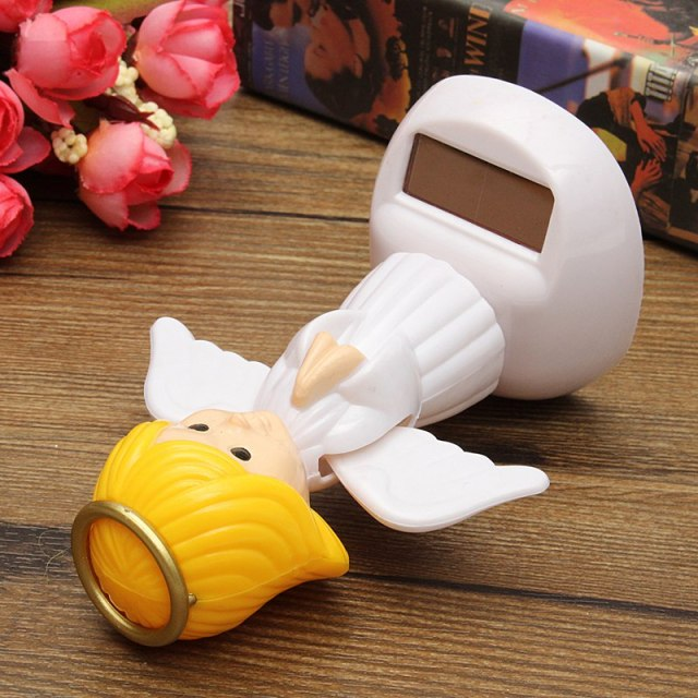 New Arrival Solar Toys Plastic ABS Dancing Fun Angel Flip Flap Powered Toys For Desk Home Ornaments Decor Toys 5