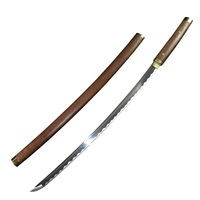 Full Handmade Real Japanese Katana 1060 high Carbon Steel Samurai Katana with Hard Wooden Scabbard