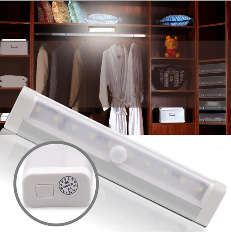 Smart Human Body Sensors Night Lights Wall PIR Sensors Bathroom Dining Bedroom Wardrobe Corridors Closet Corridor Cabinet