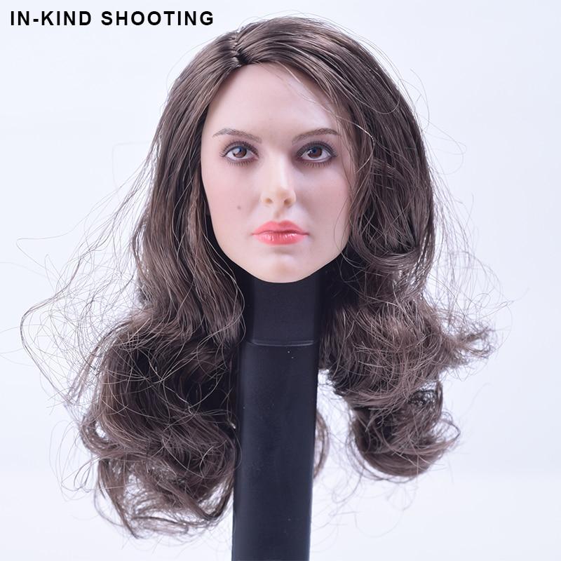 1/6 Scale PEAKTOYS Natalie Portman Thor Girl friend Head Sculpt PT001 For 12 Inch PHICEN/HTTOYS/Jodoll/KUMIK Action Figure Body