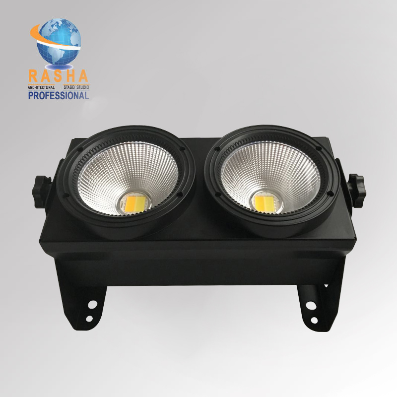 10X Lot 2 Heads 2*100W 2in1 COB WW/CW Warmwhite/Coolwhite LED Blinder Light Stage LED Audience Studio Blinder Light For Theater