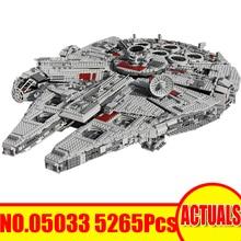 2017 LEPIN Star Wars modell építőelem blokkok tégla 5265Pcs Ultimate kollektor Millennium Falcon játék gyerekeknek Ajándék 10179