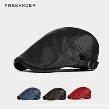 Sombreros de hombre de Freeander sombrero de nogal Boina Masculina Boina de  cuero 2018 otoño nueva mujer sombrero de Sol de Esti. 5e589a1e35c4