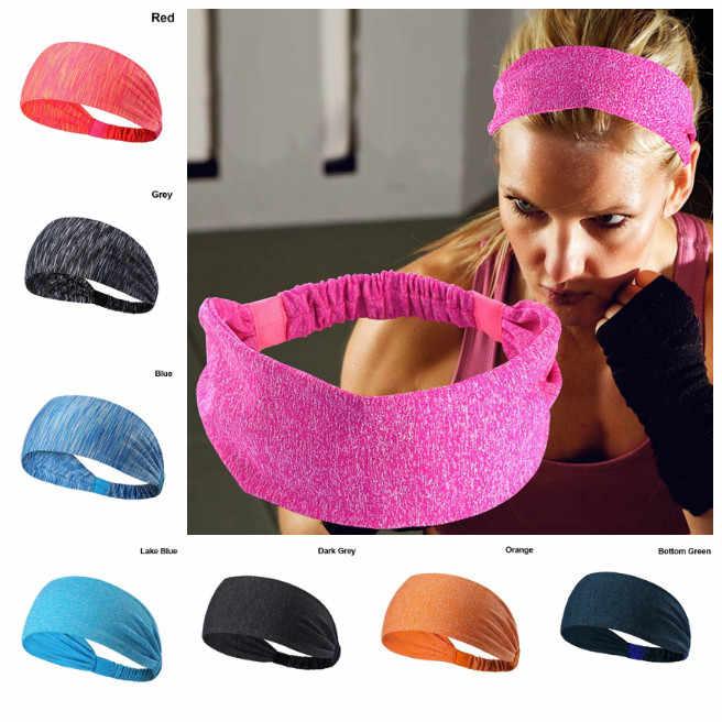 Nuevo deporte al aire libre de la mujer ancho diadema cinta Pelo elástico banda de Yoga Fitness diadema corriendo contra cinta de cabeza para el sudor