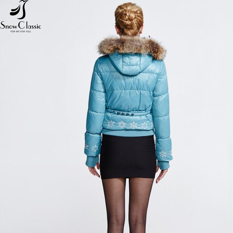 Снежно класическо зимно яке за жени - Дамски дрехи - Снимка 3