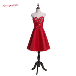 Nixuanyuan 2017 new design charming flowers prom party dress short red satin cocktail dress 2017 vestidos.jpg 250x250
