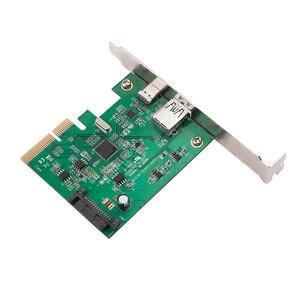 Image 3 - H1111Z PCI Express כדי USB3.1 USB C + USB3.1 סוג מארח בקר כרטיס עד USB3.1 Gen השני 10Gbps סעודת מהירות + ASM3142 ערכת שבבים