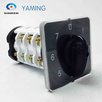 7 Position Rotary Switch 4 Poles 75A Changeover Universal Cam Manual Transfer Switch High Voltage YMZ12